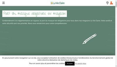 Site internet de La Vie en Bio