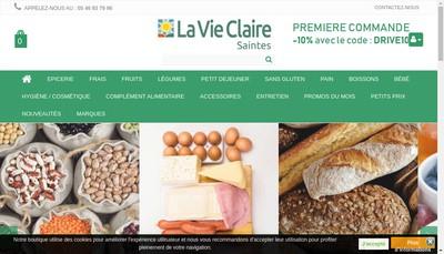 Site internet de Le Garde Manger - la Vie Claire