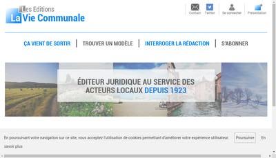Site internet de La Vie Communale et Departementale