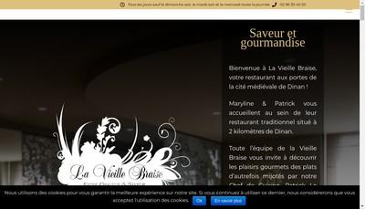 Site internet de La Vieille Braise