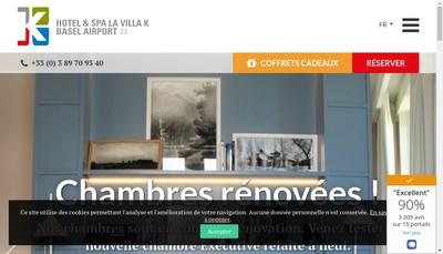 Site internet de La Villa K@Spa Saint-Louis - Basel - Aeroport