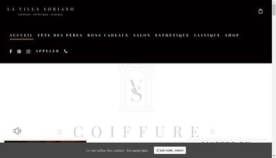 Site internet de Villa Soriano