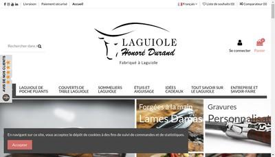 Site internet de La Coutellerie de Laguiole - Christophe Durand