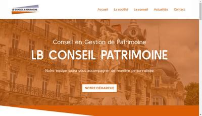 Site internet de Lb Conseil Patrimoine
