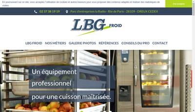 Site internet de SARL Lbg Froid