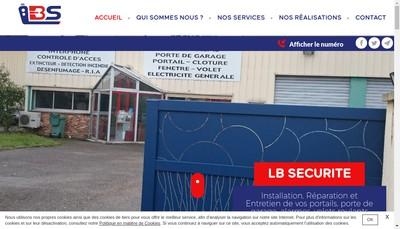 Site internet de Lb Securite