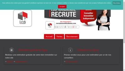 Site internet de Lcdi - le Comptoir de l'Immobilier