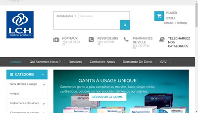 Site internet de Lch Medical Products