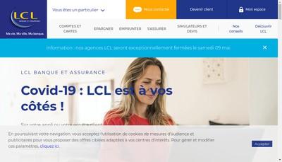 Site internet de Lcl
