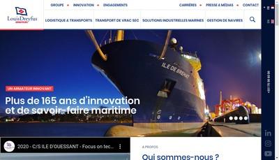 Site internet de Louis Dreyfus Armateurs SAS