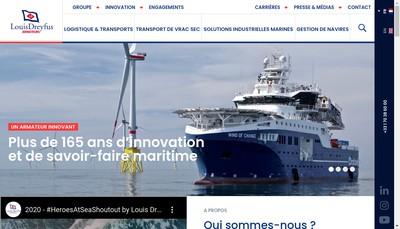 Site internet de Louis Dreyfus Armateurs Management