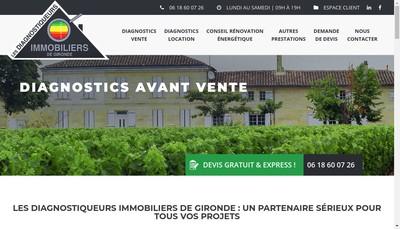 Site internet de Les Diagnostiqueurs Immobiliers de Gironde