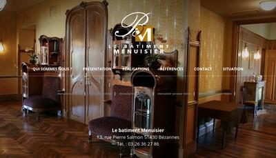 Site internet de Le Batiment Menuisier