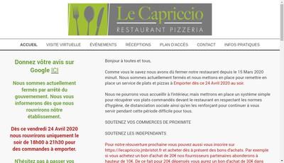 Site internet de Le Capriccio