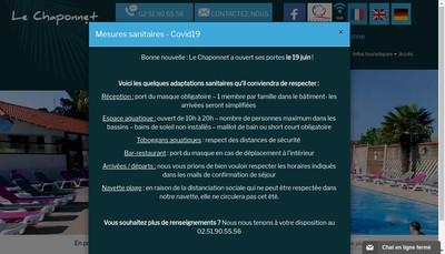 Site internet de Le Chaponnet