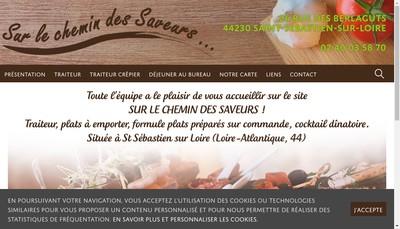 Site internet de Sur le Chemin des Saveurs