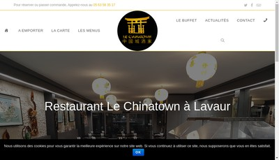 Site internet de Restaurant Chinatown