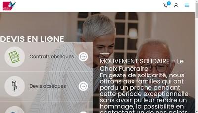 Site internet de Le Choix Funeraire
