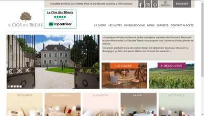 Site internet de Le Clos des Tilleuls