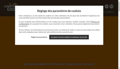 Site internet de Le Comptoir Gourmand de Lol