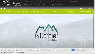 Site internet de Office du Tourisme Corbier Tourisme