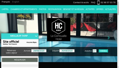 Site internet de Le Cornouaille Hotel