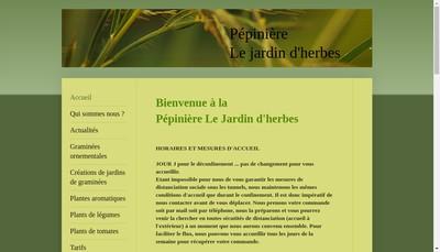 Site internet de Le Jardin d'Herbes
