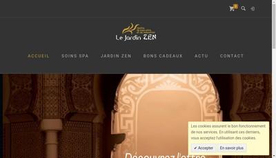 Site internet de Le Jardin Zen
