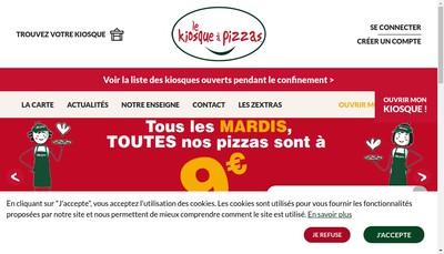 Site internet de Kiosque a Pizzas