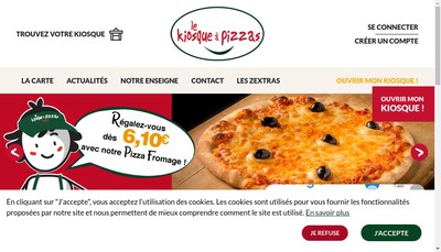 Site internet de Le Kiosque a Pizzas