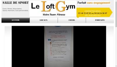 Site internet de Le Loft Gym