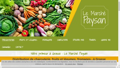 Site internet de Le Marche Paysan