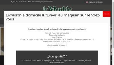 Site internet de Le Meuble Savoyard