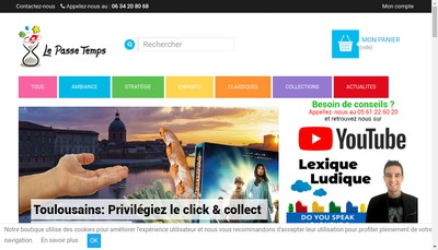 Site internet de Le Passe Temps