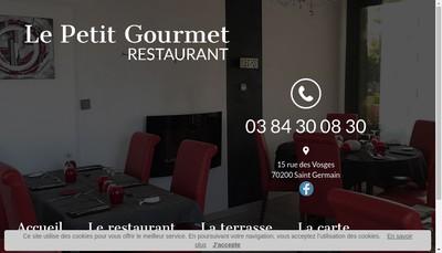 Site internet de Le Petit Gourmet