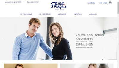Site internet de Le Pull Francais Made In France - le Pull Francais