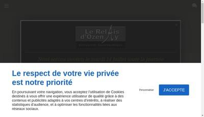 Site internet de Le Relais d'Ozenay et le Relais des Vignerons