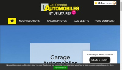 Site internet de Le Temple Utilitaires