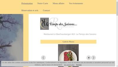 Site internet de Le Temps des Saisons
