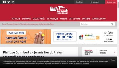 Site internet de Tout Lyon
