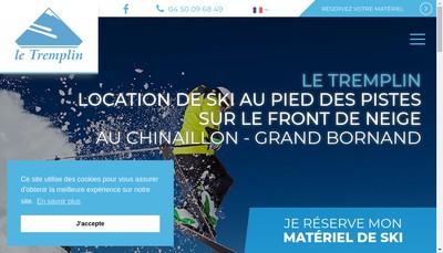 Site internet de Le Tremplin