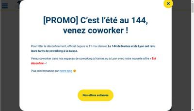 Site internet de Le 144 Cowork In Nantes
