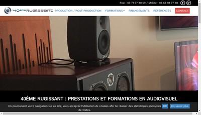 Site internet de Le 40Eme Rugissant