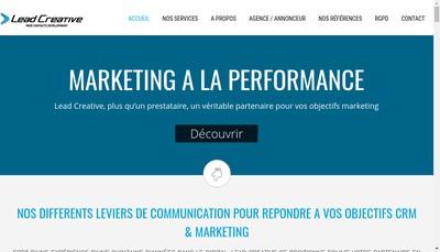 Site internet de Lead Creative