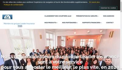 Site internet de Leader Assurances