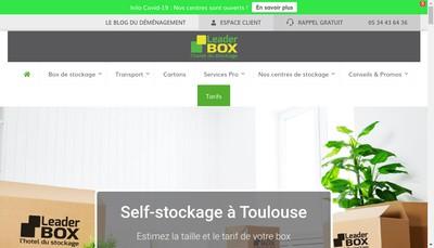 Site internet de Leader Box