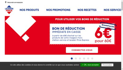 Site internet de Leader Price Botans
