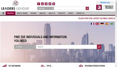 Site internet de Leaders League