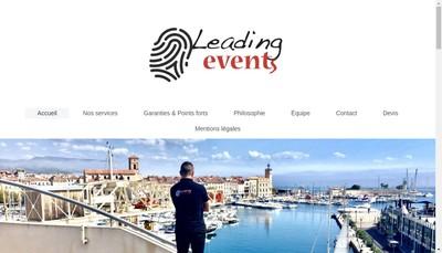 Site internet de Leading Events