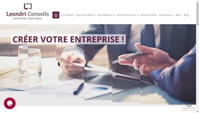 Site internet de Leandri Conseils